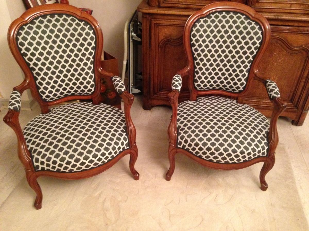 si ges de style michel larsonneur tapissier d corateur. Black Bedroom Furniture Sets. Home Design Ideas