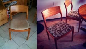 Chaise scandinave Avant Apres