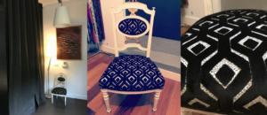 Chaise recouverte d'un tissu Designer's Guild
