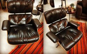 Eames Lounge Chair réfection complète de l'assise en cuir