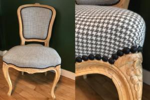 Petite chaise recouverte de tissu Designers Guild